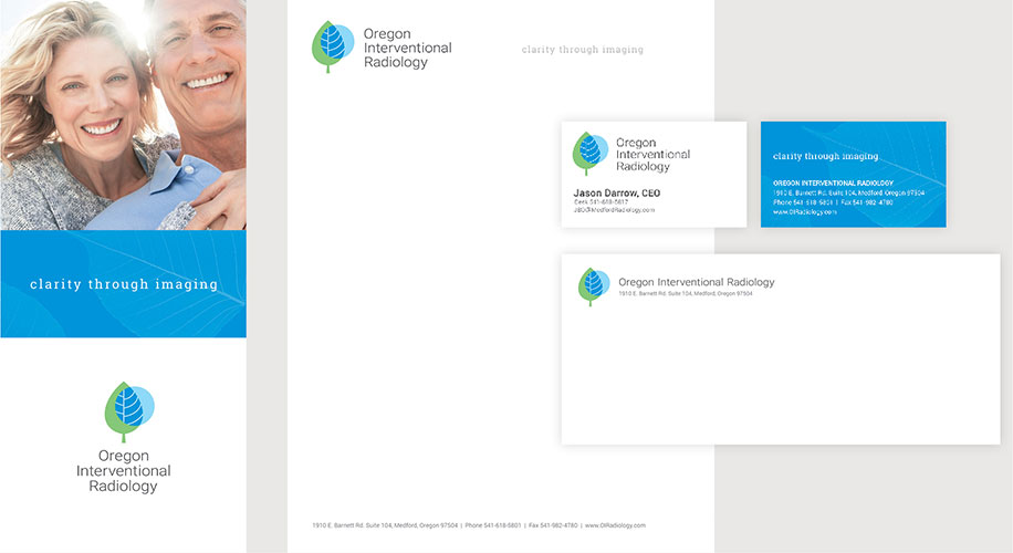 Oregon Interventional Radiology Business Papers and Brochure